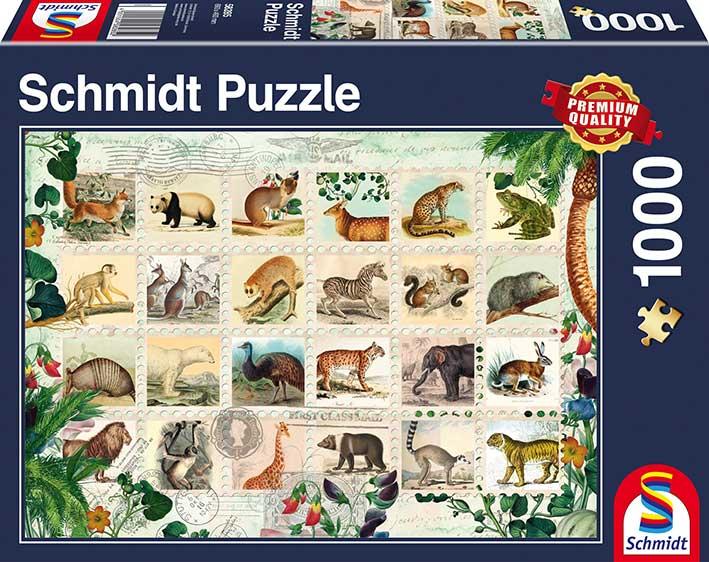 Puzzle Schmidt Sellos Vida Salvaje de 1000 Piezas