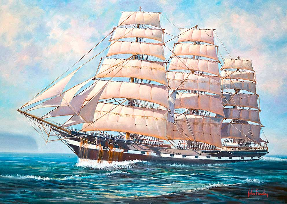 Puzzle Schmidt Surcando los Mares, A Toda Vela de 500 Piezas