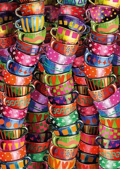 Puzzle Schmidt Tazas de Colores de 500 Piezas