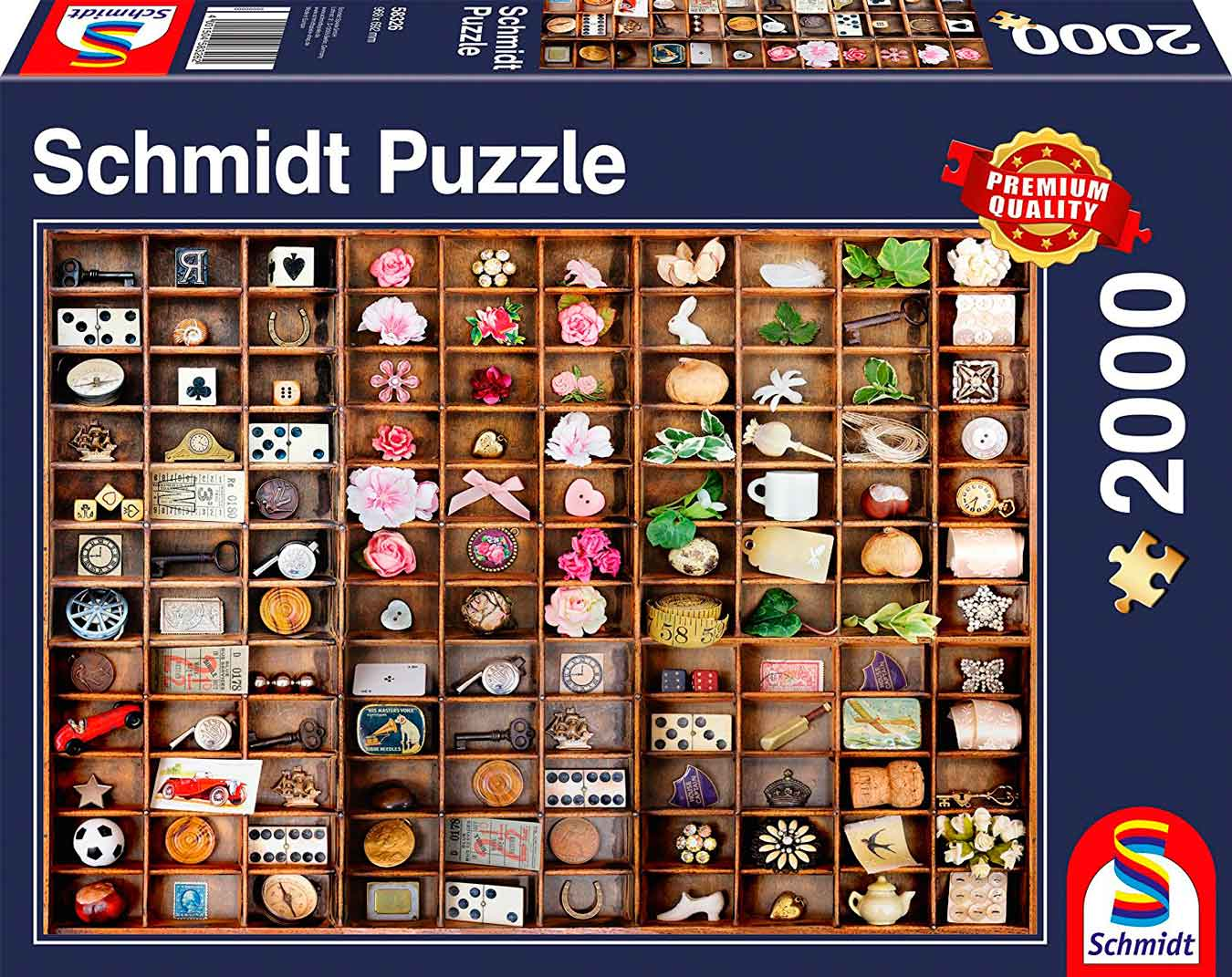 Puzzle Schmidt Tesoros en Miniatura de 2000 Piezas