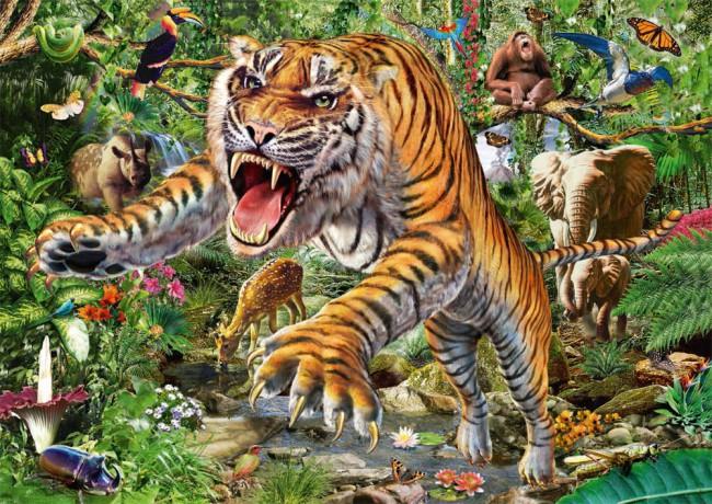 Puzzle Schmidt Tigre de 500 Piezas
