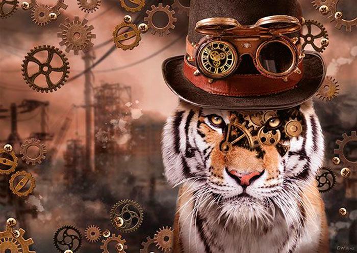 Puzzle Schmidt Tigre Steampunk de 1000 Piezas
