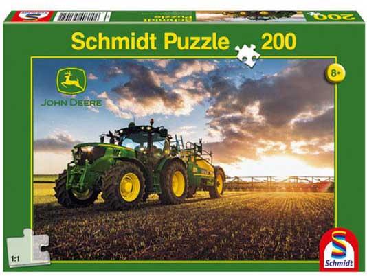 Puzzle Schmidt Tractor John Deere 6150R de 200 Piezas