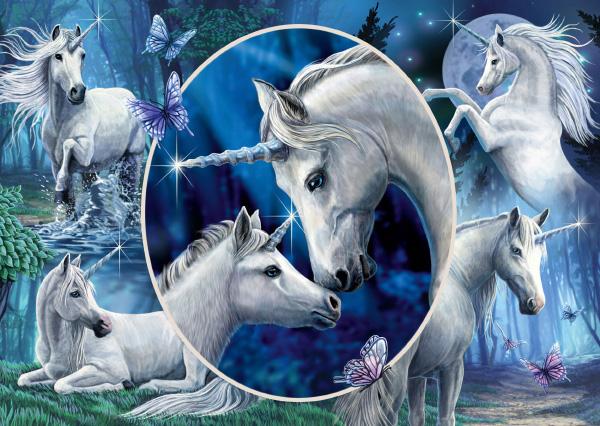 Puzzle Schmidt Unicornios Encantadores de 1000 Piezas
