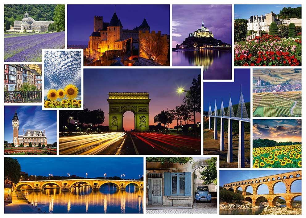 Puzzle Schmidt Vacaciones en Francia de 1000 Piezas