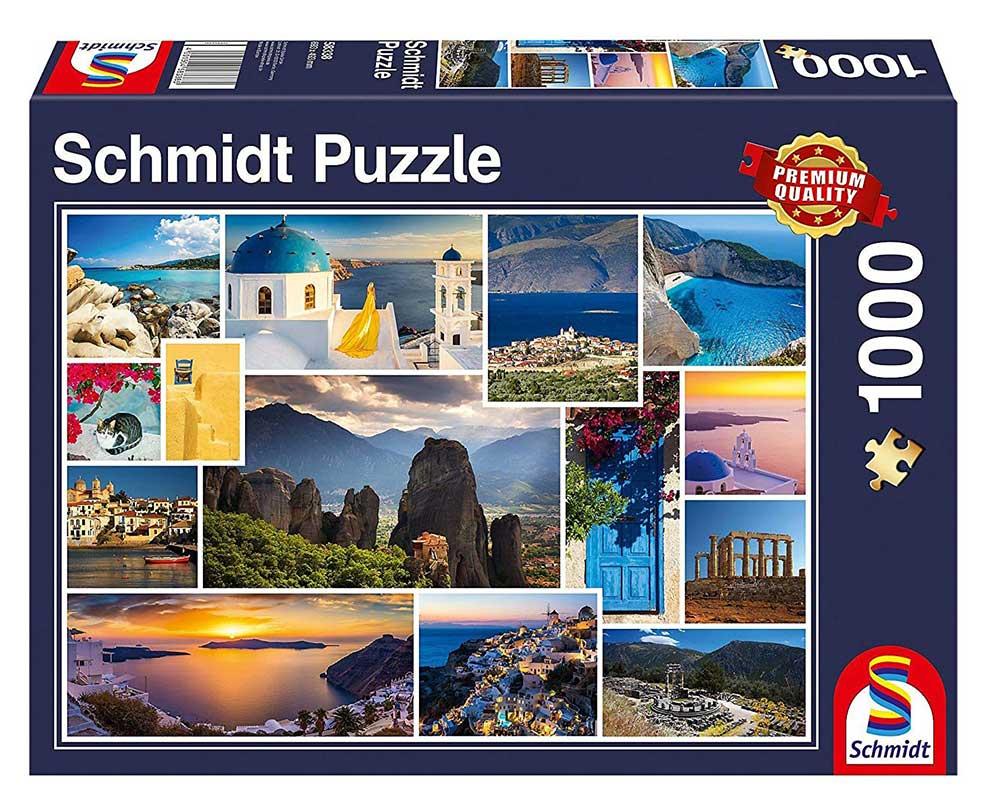 Puzzle Schmidt Vacaciones en Grecia de 1000 Piezas