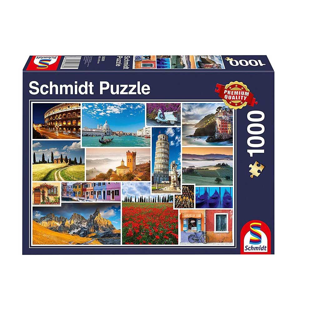Puzzle Schmidt Vacaciones en Itlaia de 1000 Piezas