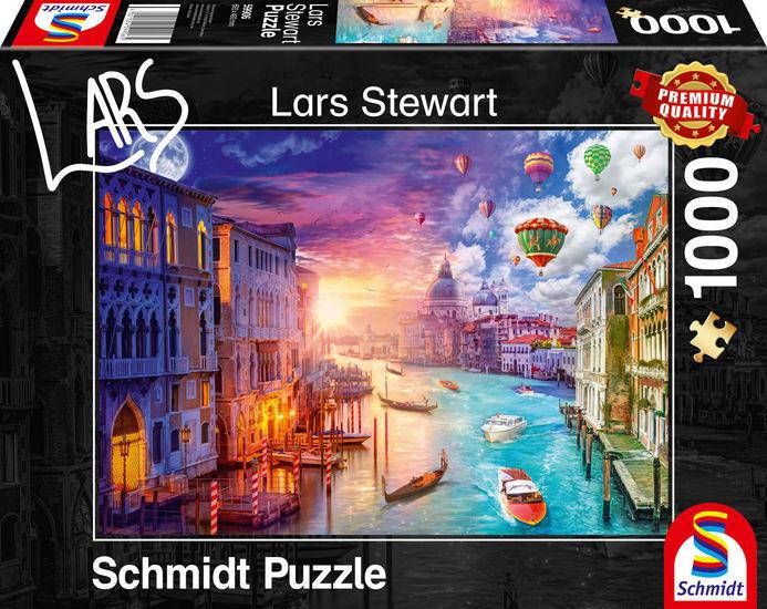 Puzzle Schmidt Venecia, Día y Noche de 1000 Piezas