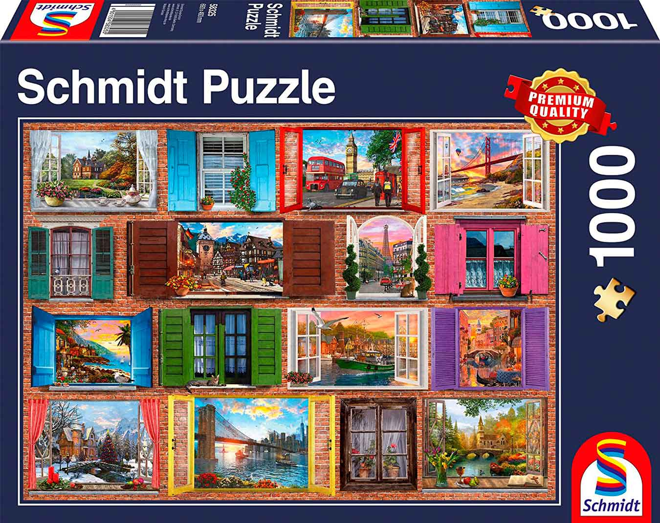 Puzzle Schmidt Ventanas Abiertas de 1000 Piezas