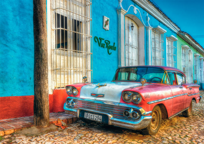 Puzzle Schmidt Vía Real, Cuba de 500 Piezas