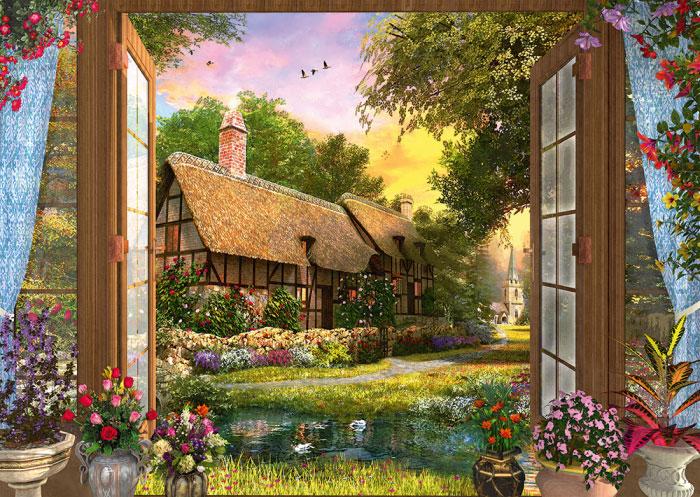 Puzzle Schmidt Vista de la Cabaña de 1000 Piezas
