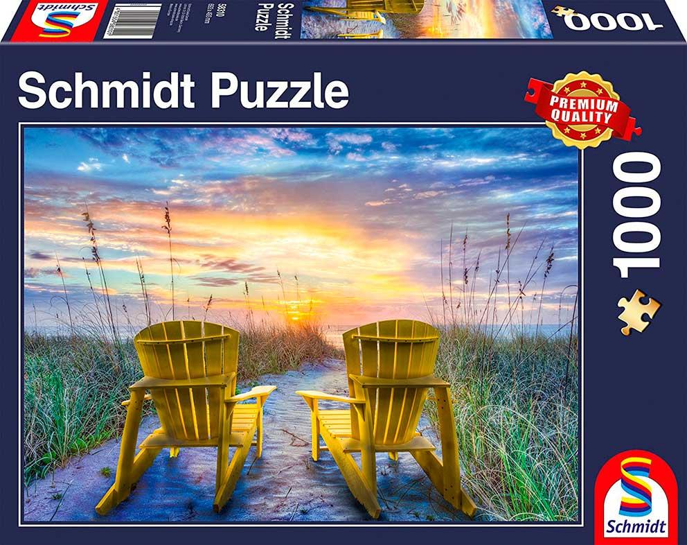 Puzzle Schmidt  Vista del Atardecer de 1000 Piezas
