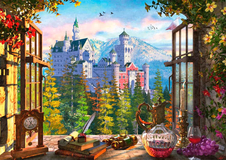 Puzzle Schmidt  Vista del Castillo de las Hadas de 1000 Piezas