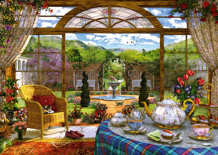 Puzzle Schmidt Vista desde el Porche de 1000 Piezas