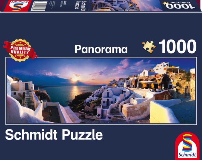 Puzzle Schmidt Vista Panorámica de Santorini de 1000 Piezas