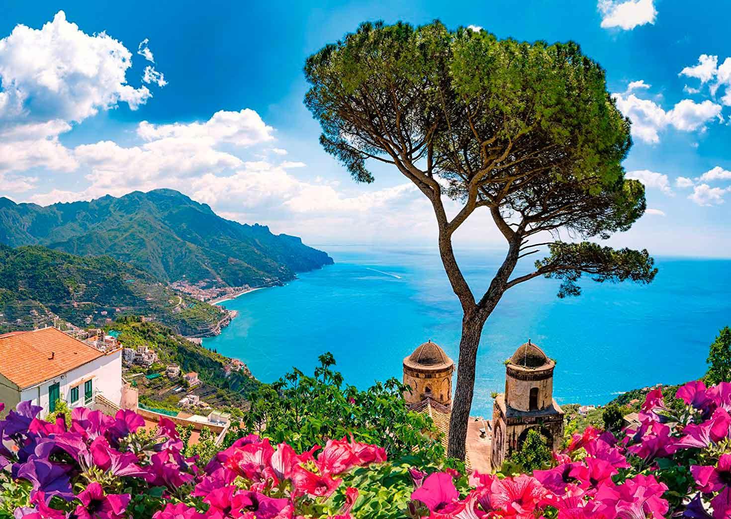 Puzzle Schmidt Vista sobre la Costa de Amalfi de 1000 Piezas