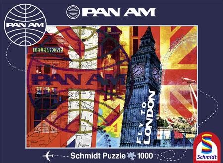 Puzzle Schmidt Vuelo a Londres de 1000 Piezas