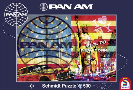 Puzzle Schmidt Vuelo a Nueva York de 500 Piezas