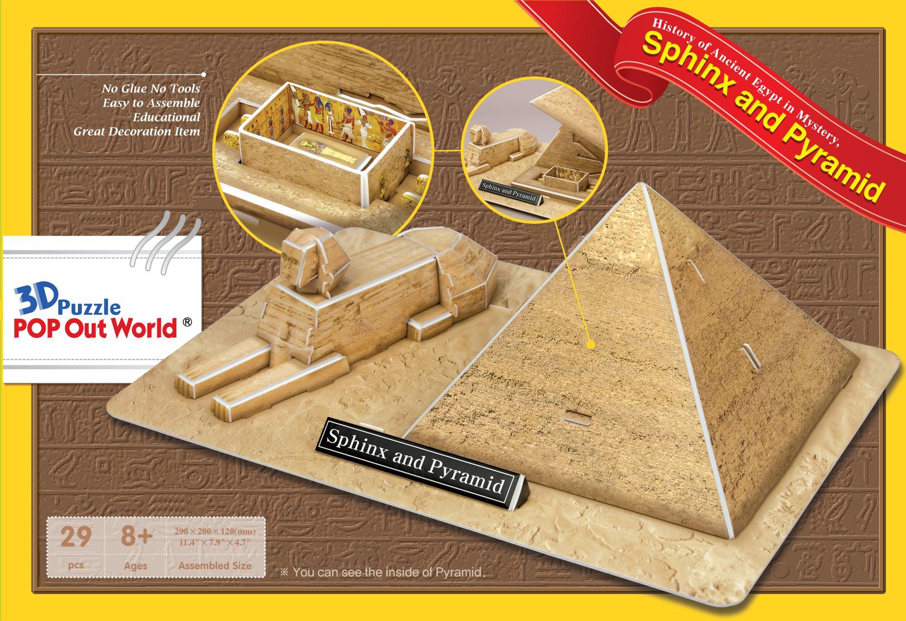 Puzzle Scholas Esfinge y Pirámide 3D 29 Piezas