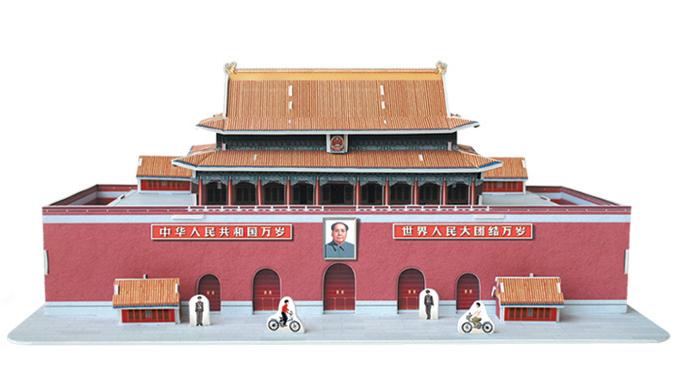 Puzzle Scholas Tiananmen 3D 51 Piezas