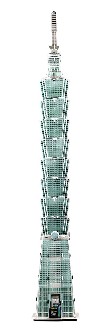 Puzzle Scholas Torre Taipei Fosforescente 3D 94 Piezas