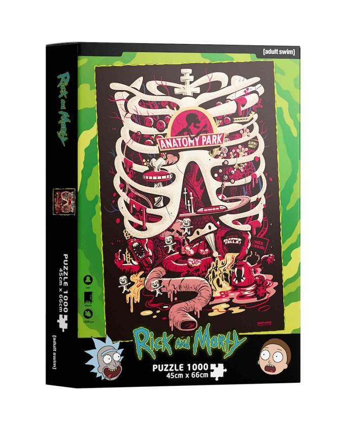 Puzzle SDToys Anatomía Park Rick y Morty de 1000 Piezas