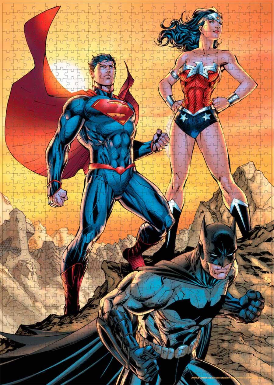 Puzzle SDToys Justice League Batman, Superman de 1000 Piezas