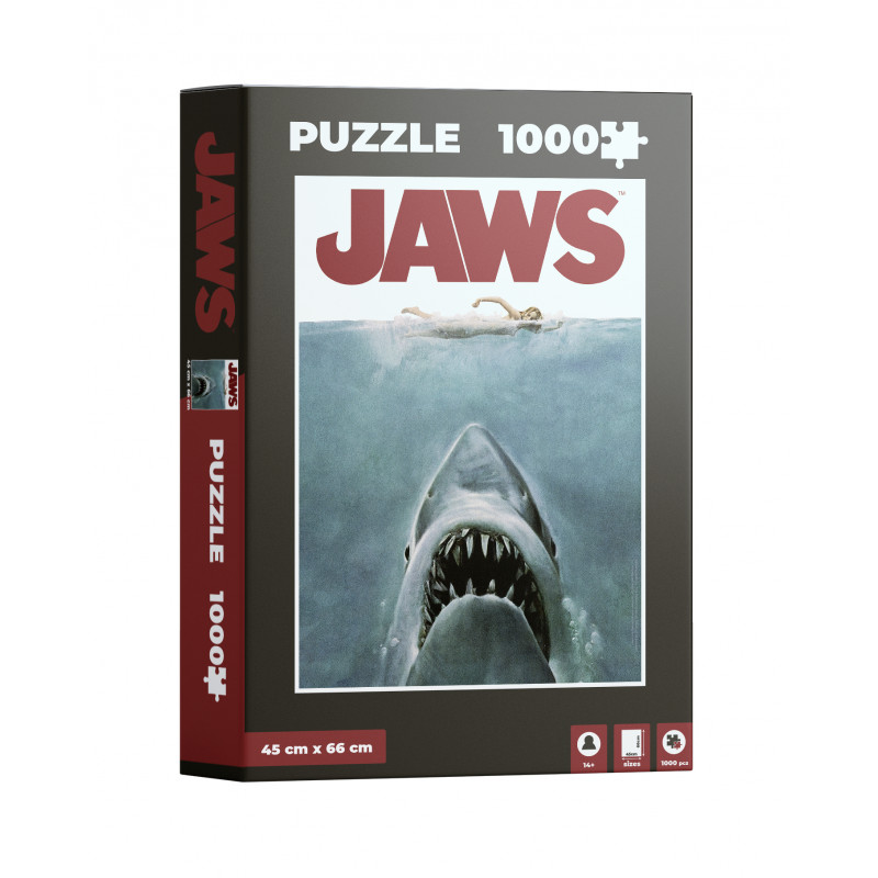 Puzzle SDToys Poster Jaws, Tiburón de 1000 Piezas