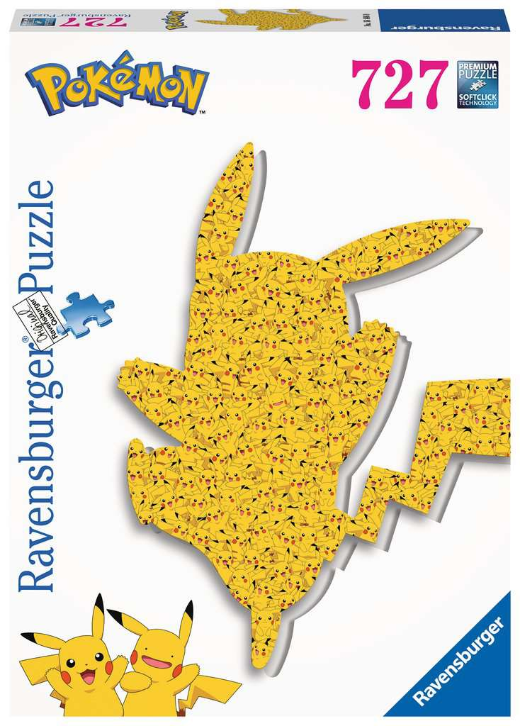 Puzzle Silueta Ravensburger Pokemon Pikachu de 727 Piezas