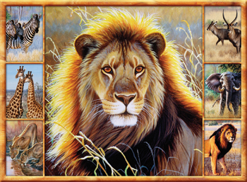 Puzzle SpielSpass Leones de 1000 Piezas