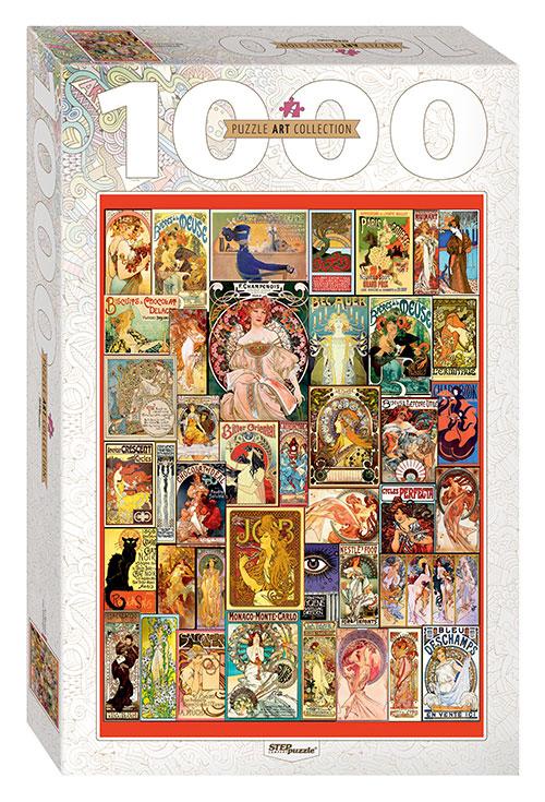 Puzzle Step Puzzle Art Nouveau de 1000 Piezas