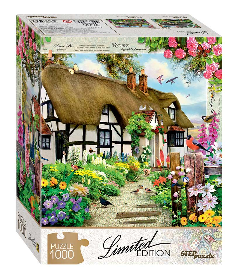Puzzle Step Puzzle Cabaña Inglesa de 1000 Piezas