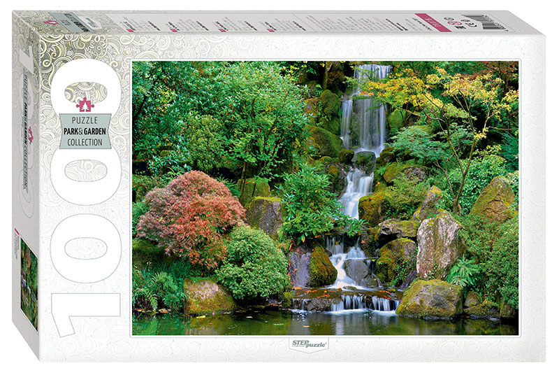 Puzzle Step Puzzle Cascada en Jardín Japonés de 1000 Piezas