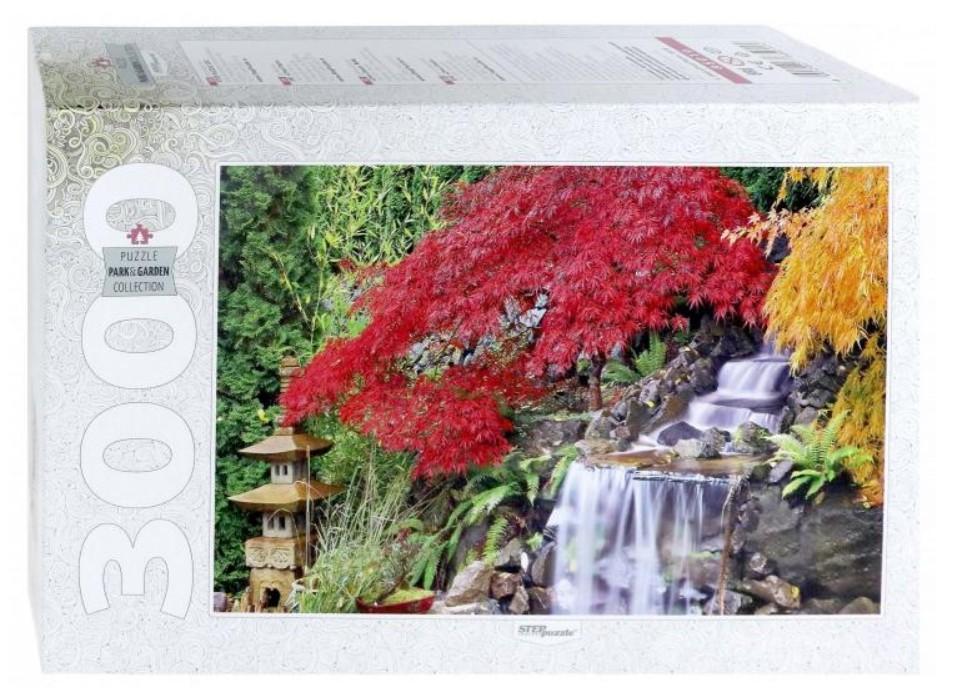 Puzzle Step Puzzle Cascada en Jardín Japonés de 3000 Piezas