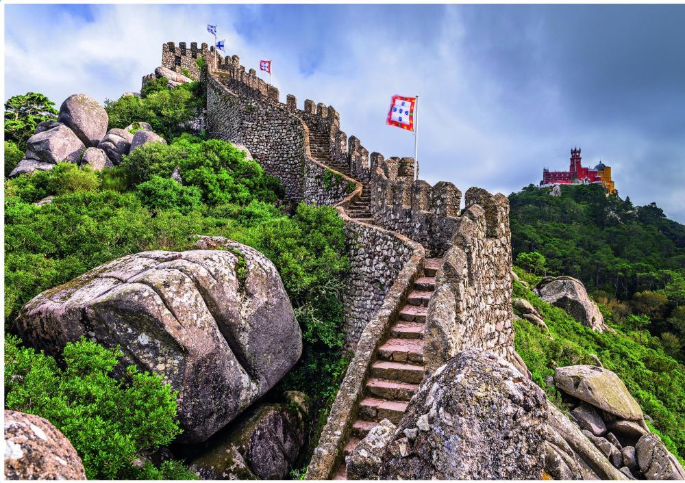 Puzzle Step Puzzle Castillo de los Moros, Sintra de 4000 Piezas