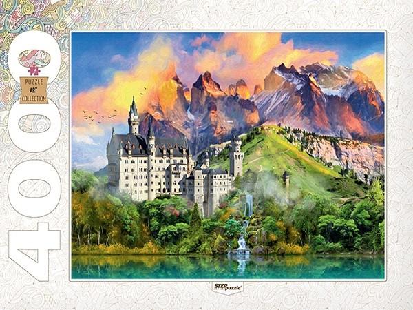 Puzzle Step Puzzle Castillo de Neuschwanstein de 4000 Piezas