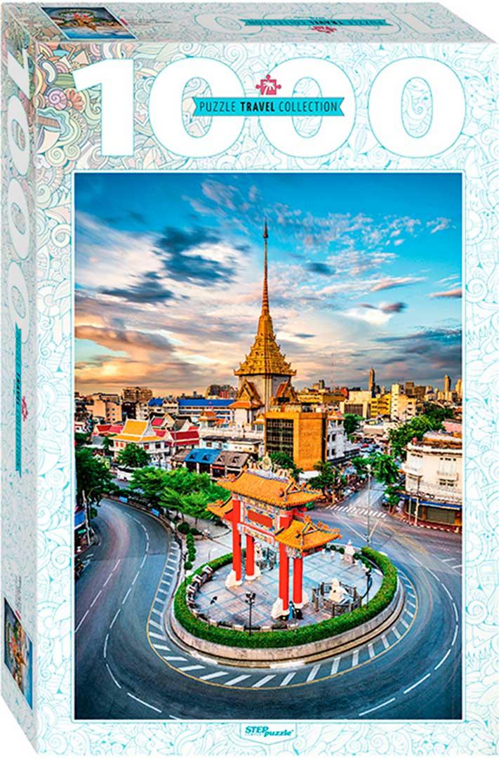 Puzzle Step Puzzle Chinatown en Bangkok de 1000 Piezas
