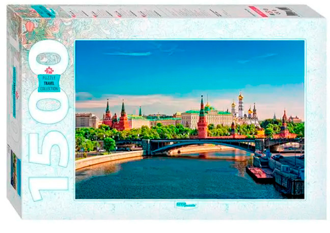 Puzzle Step Puzzle El Kremlin, Moscú de 1500 Piezas