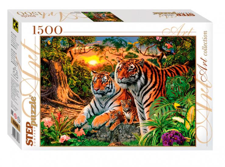 Puzzle Step Puzzle Encuentra Los Tigres de 1500 Piezas