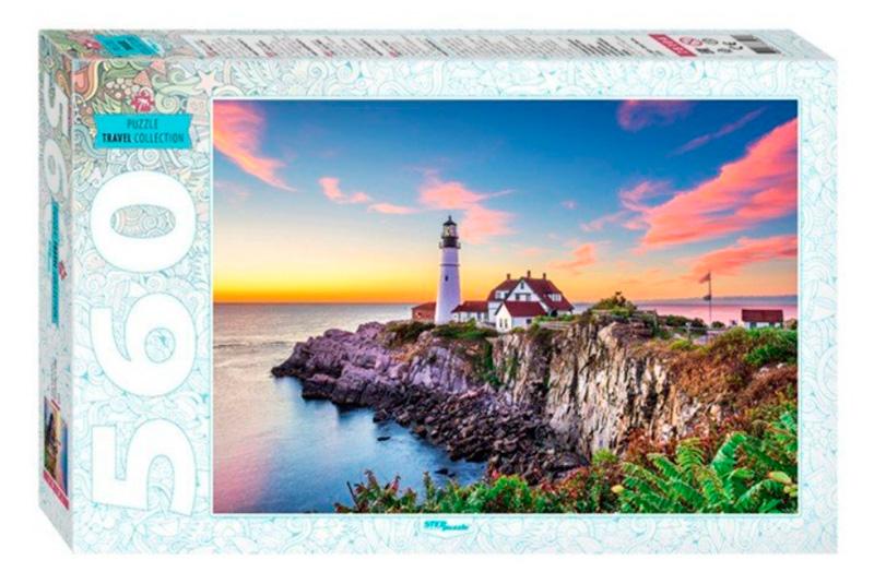 Puzzle Step Puzzle Faro de Portland, Estado de Maine de 560 Pzs