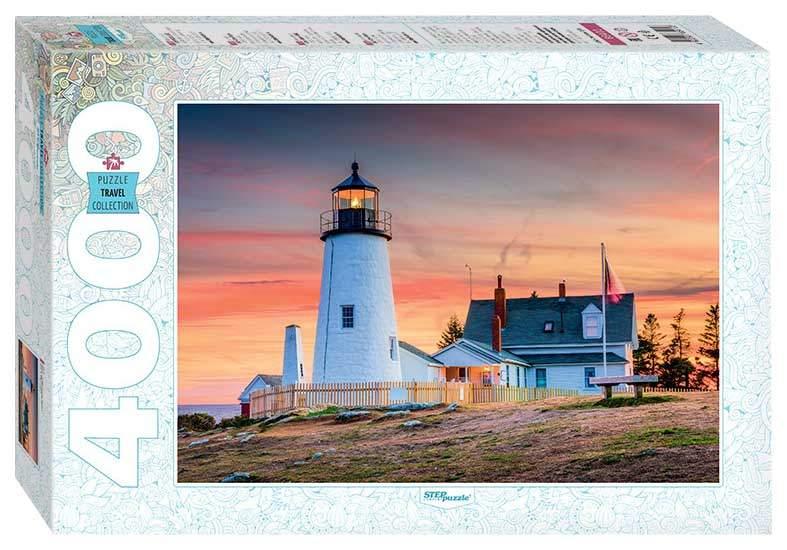 Puzzle Step Puzzle Faro de Portland, Maine de 4000 Piezas
