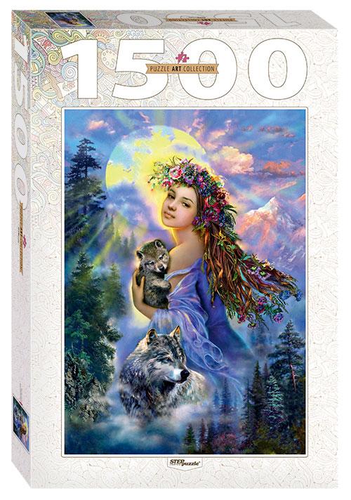 Puzzle Step Puzzle La Chica y El Lobo de 1500 Piezas