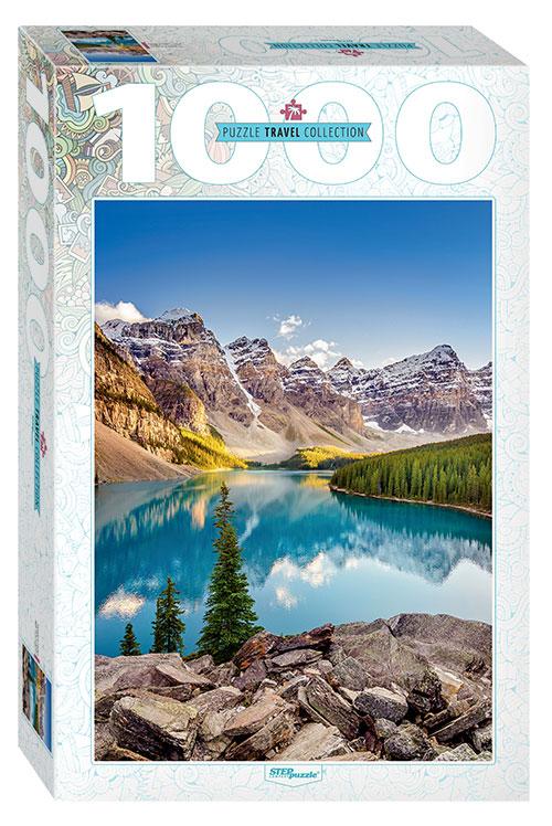 Puzzle Step Puzzle Lago Moraine, Canadá de 1000 Piezas