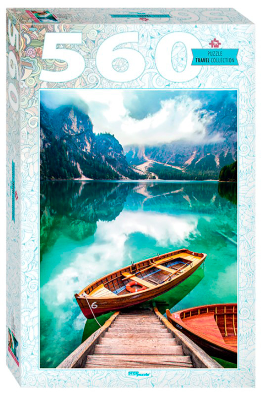 Puzzle Step Puzzle Lago Prags en el Sur del Tirol de 560 Pzs