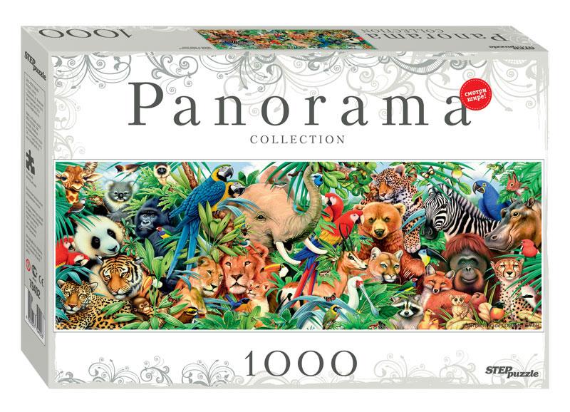 Puzzle Step Puzzle Panorama Mundo Animal de 1000 Piezas
