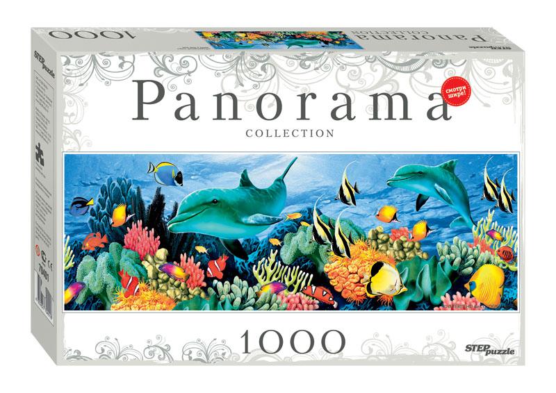 Puzzle Step Puzzle Panorama Mundo Subacuático de 1000 Piezas