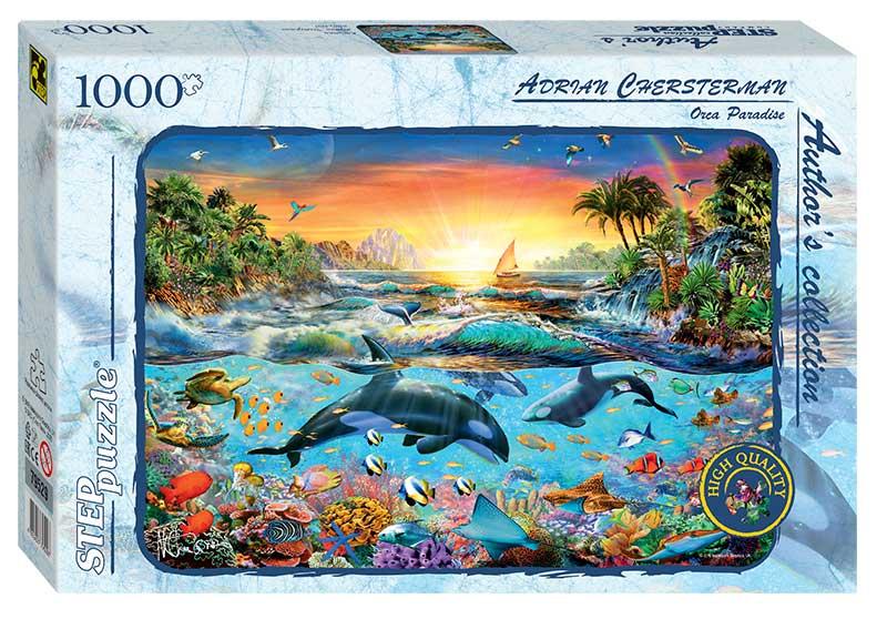 Puzzle Step Puzzle Paraíso de la Orca de 1000 Piezas