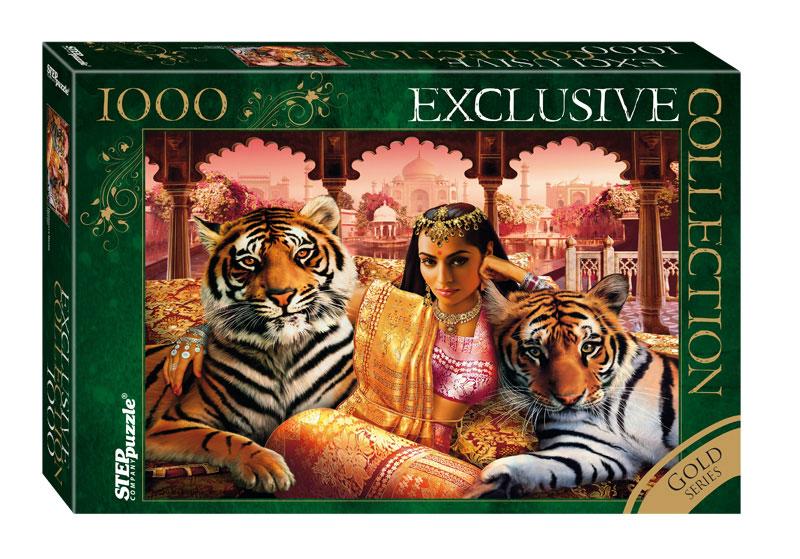 Puzzle Step Puzzle Princesa India (Detalles Dorados) de 1000 Pie