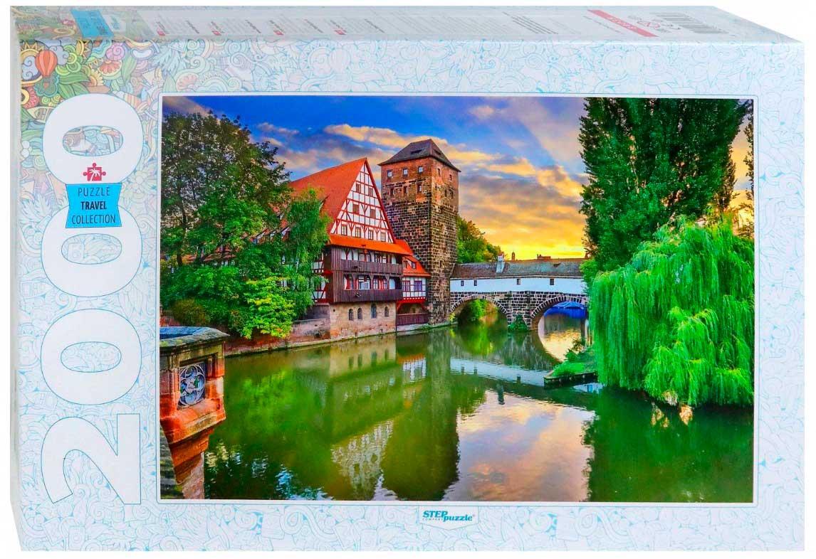 Puzzle Step Puzzle Puente en Nuremberg, Alemania de 2000 Piezas