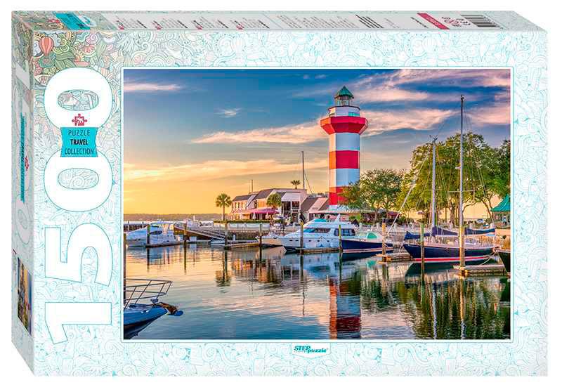 Puzzle Step Puzzle Puerto del Faro, Carolina del Sur de 1500 Pzs